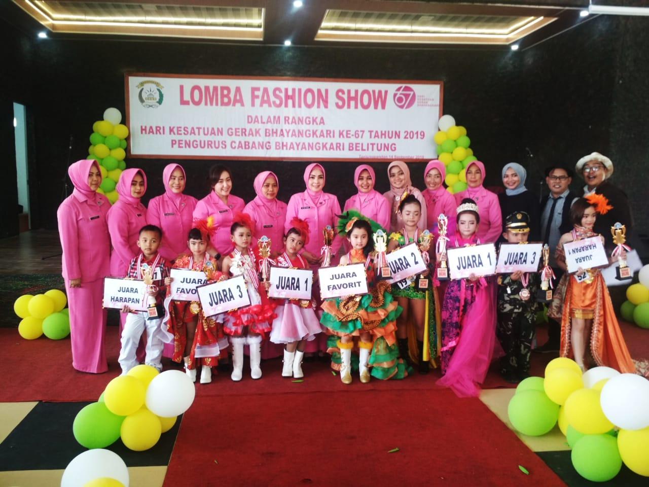 Anak-anak SD Dan TK Se Pulau Belitung Ramaikan Lomba Fashion Show