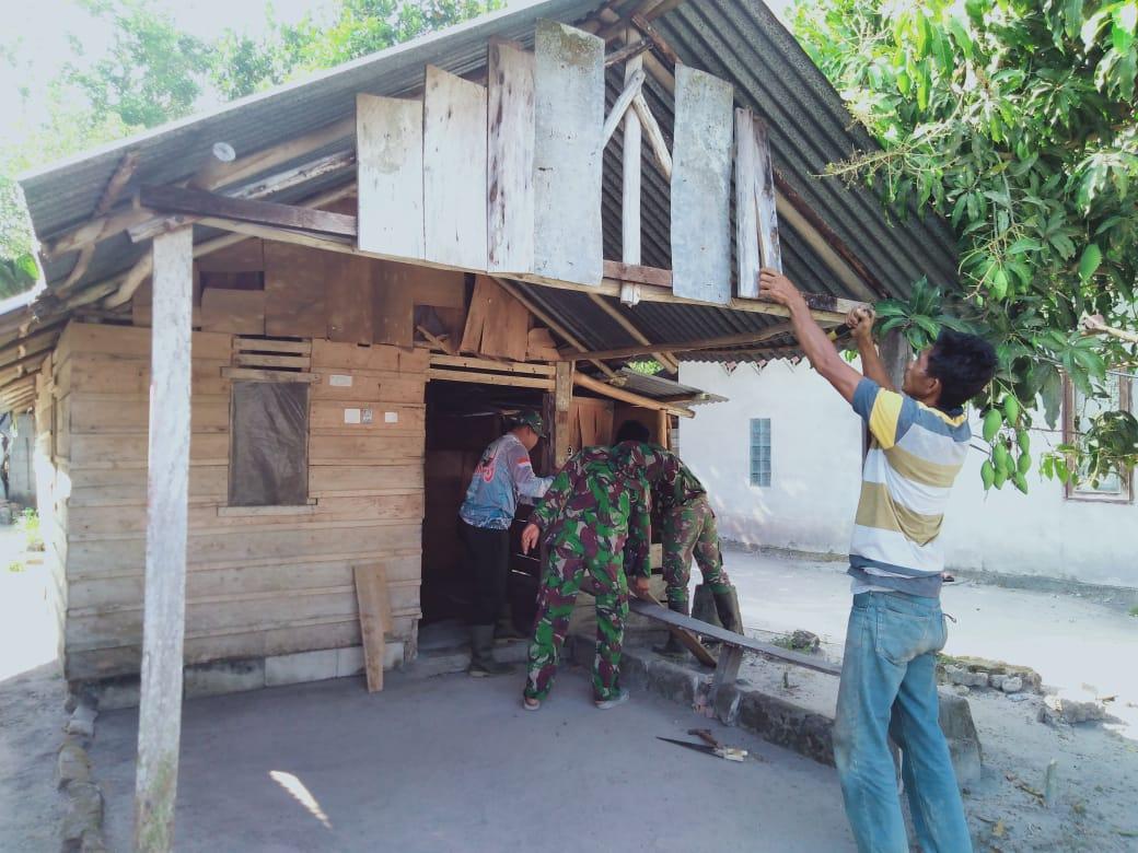 TMMD 106, Kodim 0414/Belitung Tingkatkan Pembangunan RTLH Untuk Penurunan Kemiskinan