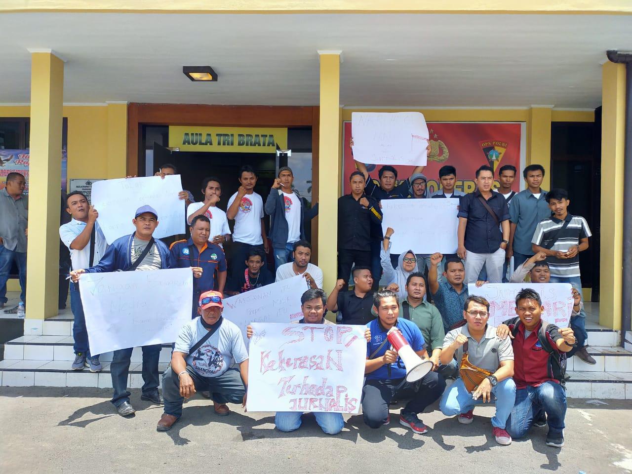Bentuk Solidaritas Terhadap Insan Pers, Jurnalis Belitung Adakan Aksi Damai