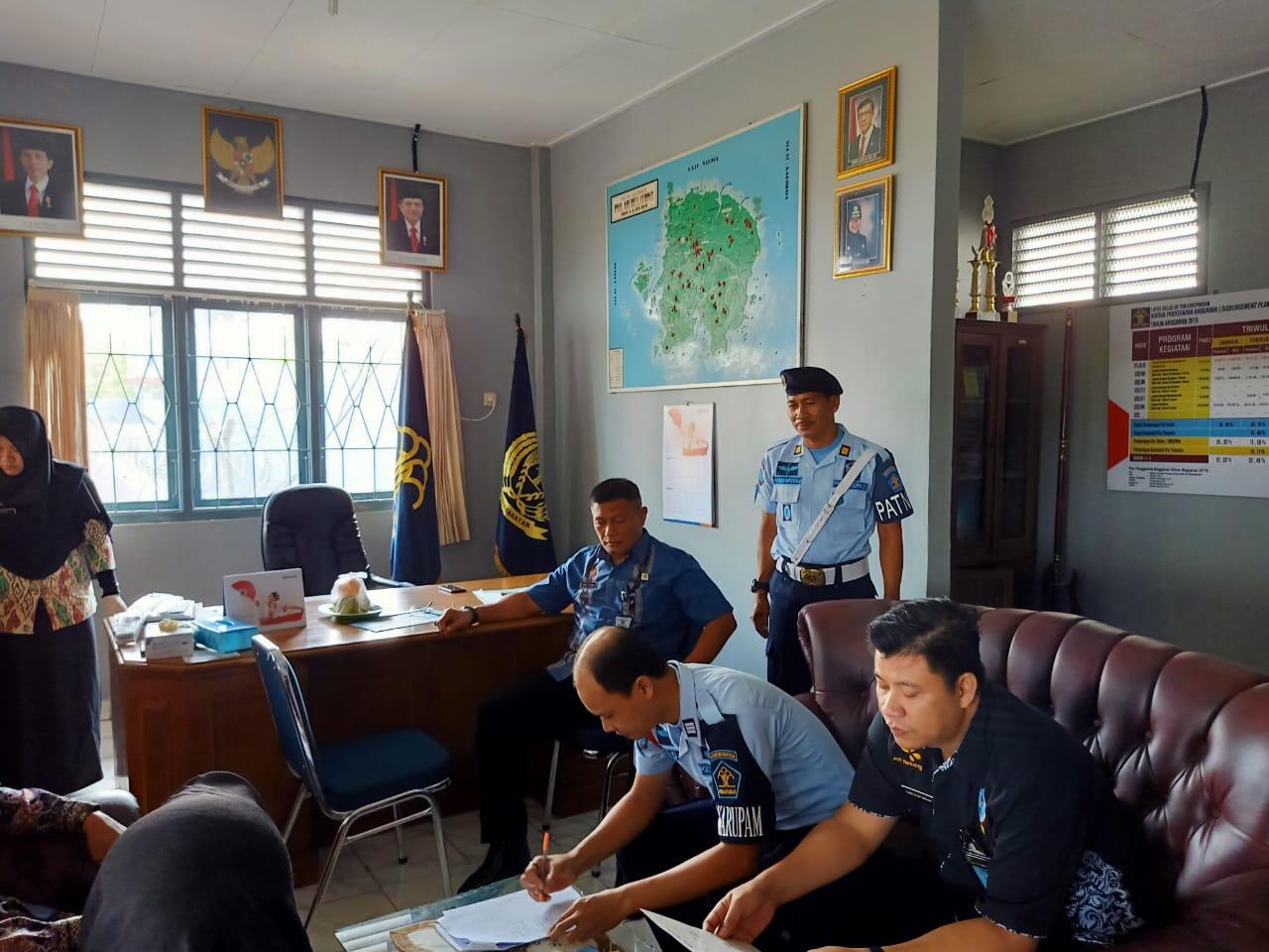 Lapas Kelas IIB Tanjungpandan Gandeng BNNK Kabupaten Belitung Gelar Tes Urine