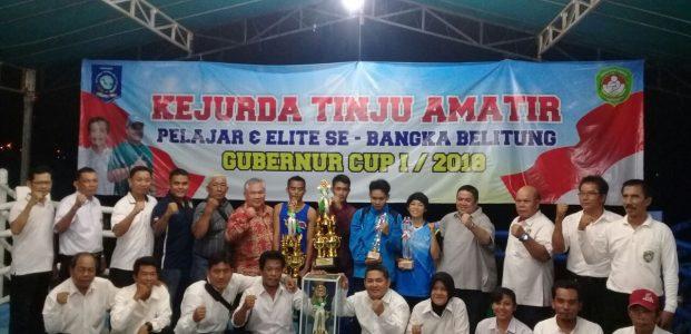 Bangka Selatan Sabet Juara Umum Kejurda Tinju Amatir Pelajar dan Elite Se babel 2018