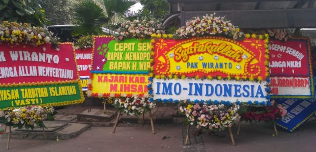 Simpati Kepada Jenderal (Purn) Wiranto, IMO Indonesia Kirim Karangan Bunga