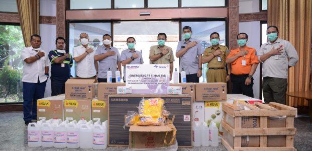 PT Timah Serahkan Bantuan Penanganan Virus Corona