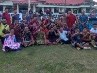 Sambut HUT Kemerdekaan RI ke 75 Polres Bangka Undang Awak media Bermain Futsal menggunakan Daster .