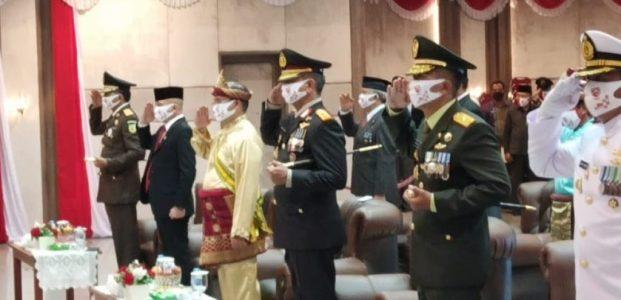 Danrem 045/Gaya Brigjen TNI M. Jangkung Widyanto S.I.P. M. Tr (Han) Hadiri Upacara Kemerdekaan Ke 75