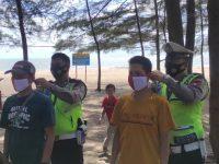 Sat Lantas Polres Bangka Patroli di Tempat Wisata