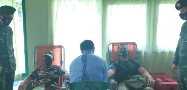 Sambut HUT Ke 75 Tentara Nasional Indonesia Kodim 0413/Bangka Gelar Bhakti Sosial Donor Darah