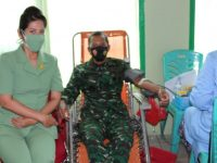 Danrem 045/Gaya Donor Darah Dalam Rangka HUT TNI ke-75