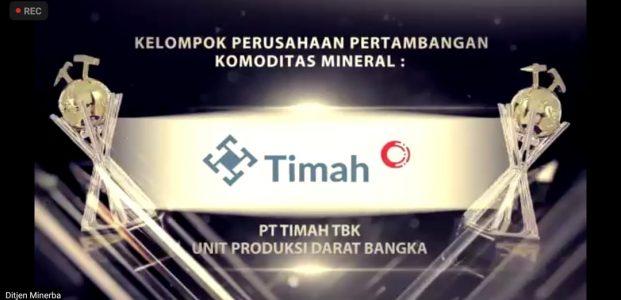 PT Timah Penerima Penghargaan Terbaik Pengelolaan Konservasi Minerba Kelompok Pemilik IUP