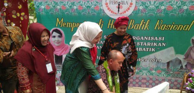 Molen Hadiri Peringatan Hari Batik Yang Digelar DPC Perwira Kota Pangkalpinang