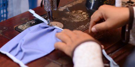 Bantu Pendapatan Masyarakat, PT Timah Libatkan Pelaku Usaha Lokal Produksi Masker, Dalam Penanganan Covid-19 Belitung