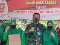 Kodim 0413 Bangka Sambut Dirgahayu Hari Kemerdekaan, Dengan Bermain Bersenang Bersama Prajurit Beseta Istri