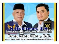 Sukirman – Bong Ming Ming, Resmi Maju Pilkada Babar