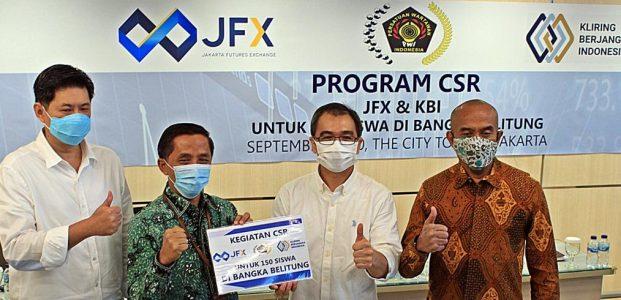 JFX & PT KBI Bersama PWI Bantu Kuota Internet Siswa Babel