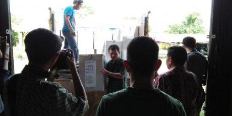 KPU Bateng Terima Logistik Pilgub Dari Kecamatan